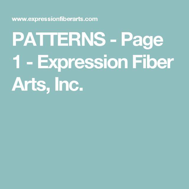 PATTERNS - Page 1 - Expression Fiber Arts, Inc.