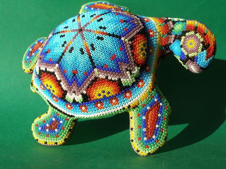 Huichol Clay Turtle - Latin - Mexican Folk Art Craft