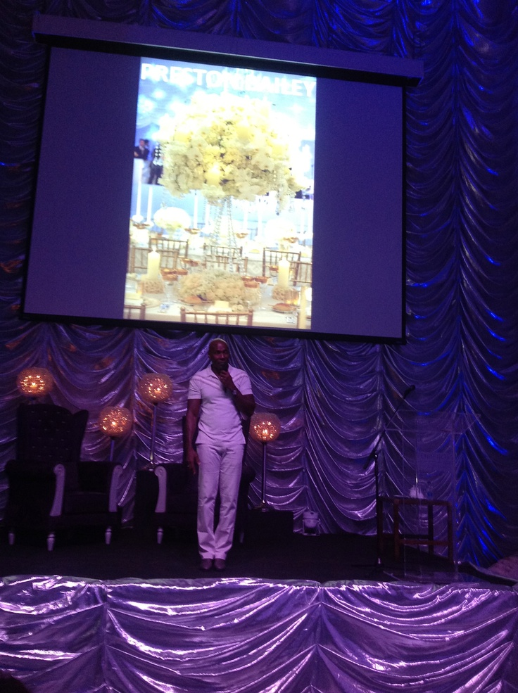 Preston Bailey on stage