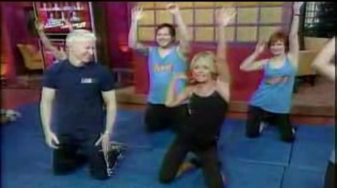 "Ms. Ripa's arms are amazing, and my new motivators to push through my push ups lol ""Get the Bod: Kelly Ripa's Workout with Anderson Cooper"""