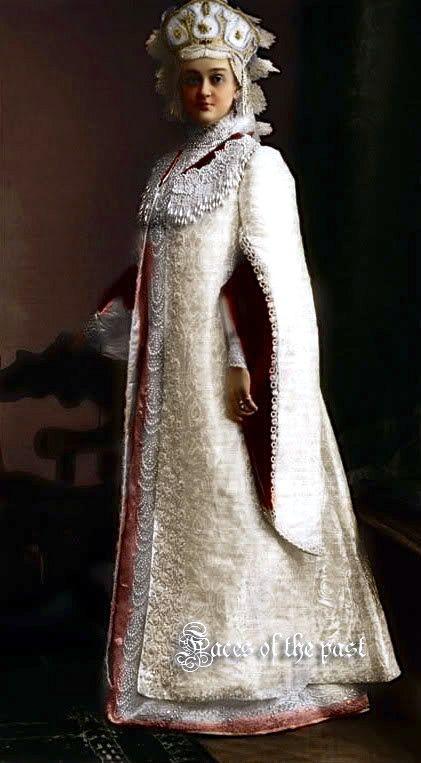 Madame Nadezhda Ilyichna Denisova at the Winter Palace Costume Ball of 1903.