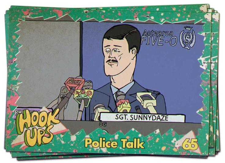 Police talk card