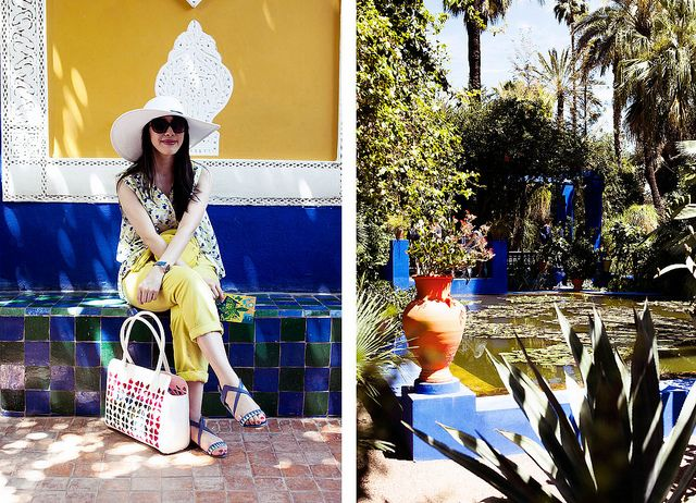 Wearing #Reiss hat, #MercyDelta top, #AtalantaWeller sandals both from @Harvey Miedreich Nichols #Uniqlo trousers, #CalvinKlein sunglasses, @Mimi Levelle Follie bag. http://www.styleslicker.com/2013/06/06/morocco-visual-diary-marrakech/ #marrakech