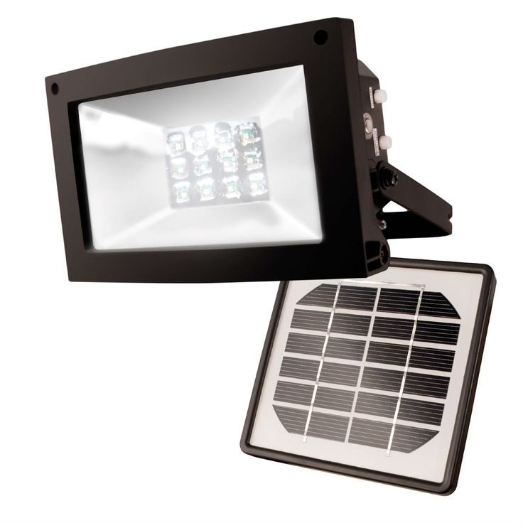 Solar Powered 10-Hour Flood Light - Automatically Turns On at Night
