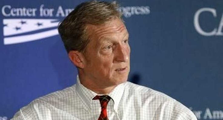 Billionaire environmental activist Tom Steyer said he is not yet prepared to back Hillary Clinton as the Democratic nominee for president and he would not rule out supporting her main rival, Bernie Sanders, if he beats her in the primaries.