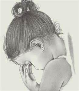 Praying Child | Angel drawing, Pencil drawings, Baby sketch