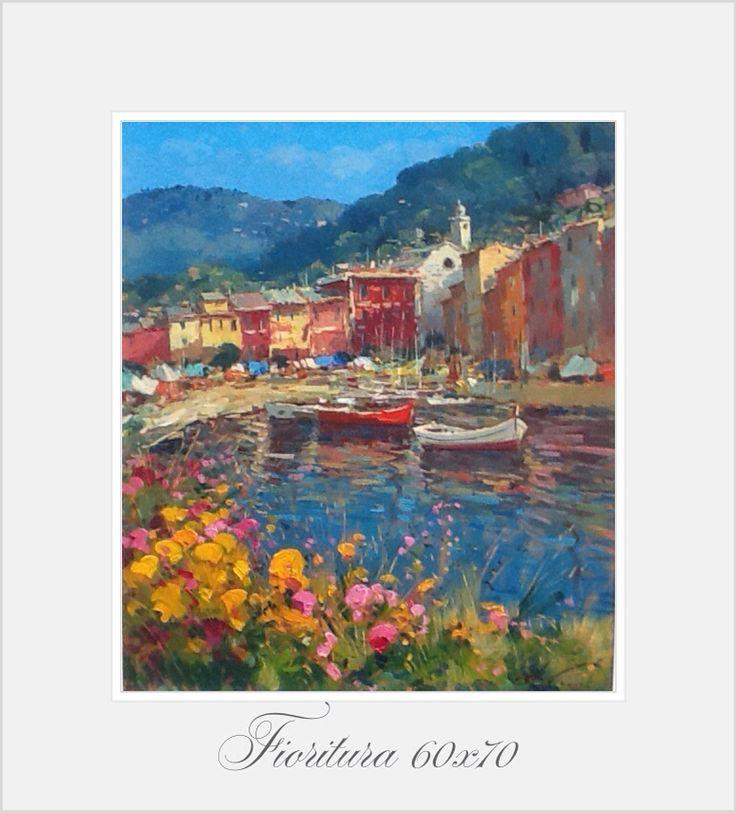 Fiori a Portofino 60x70 oil on canvas