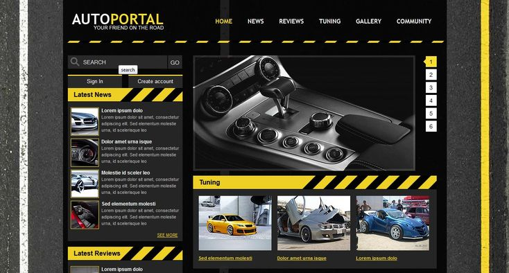 Auto Portal Template for shop of cars. Auto Portal for you Free Download and build your website