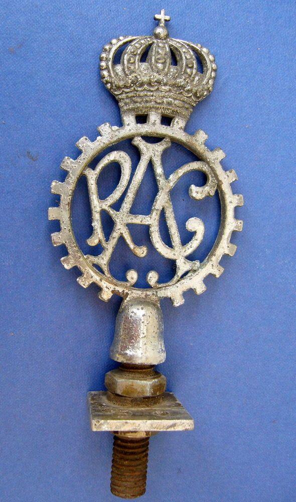 Royal Automobile Club  Vintage European Car Club Badge.