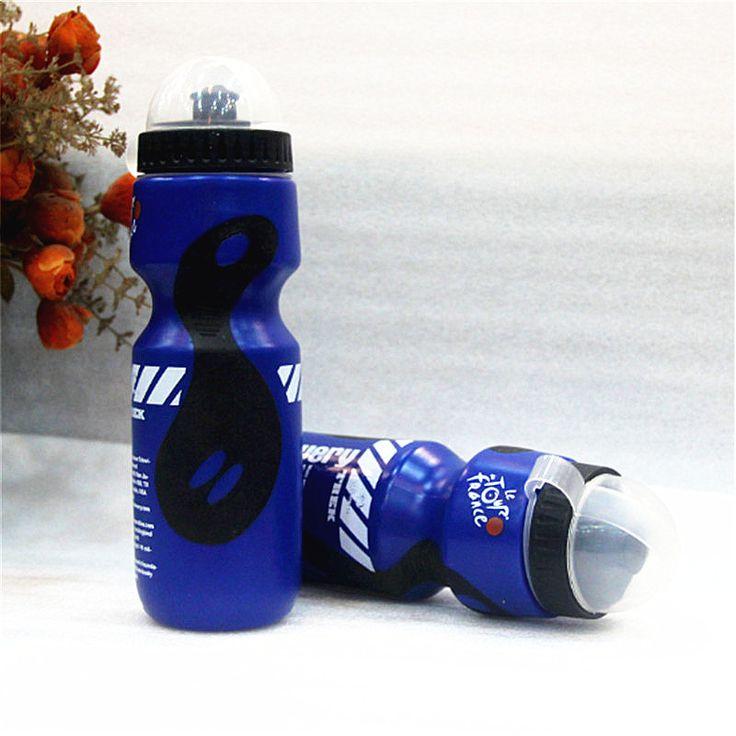 Бесплатная доставка новый синий горячая спорт на открытом воздухе велосипед велоспорт пэ 750 мл спорт бутылки воды с защитой от пыли