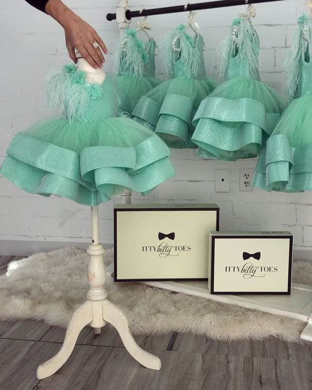 NEW!!! Tiffany Dress (Comes with matching headpiece) Available from 0-9 years ready to ship ✈️ Worldwide Delivery Ittybittytoes.com (link in bio)ittybittytoes
