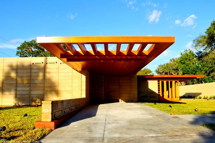 Frank Lloyd Wright Modern Carport : Best images about carport on pinterest shipping