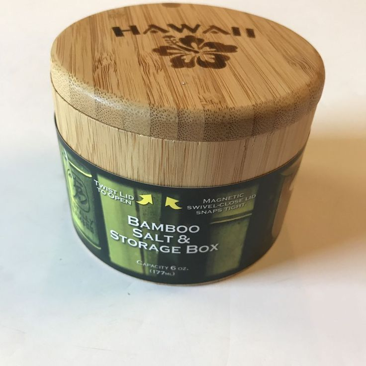 Hawaii Bamboo Salt Box Storage Container Kitchen Spices Cooking New  #TotallyBamboo