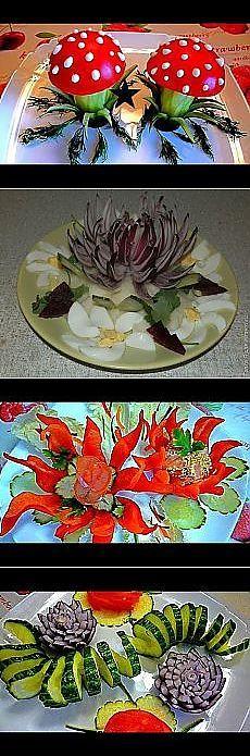 Украшения для блюд из овощей