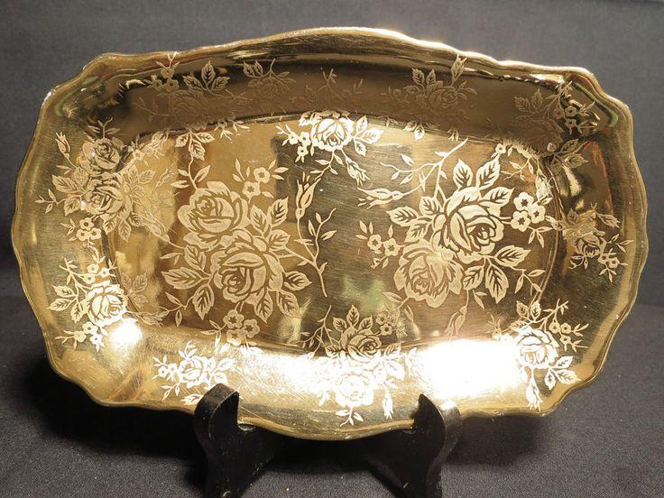 James Kent Old Foley Gold Brocade Tray