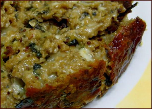This meatloaf is as good or better than the animal protein version, but with cholesterol levels as they are this vegetarian version is good tasting and good for you.  I really enjoyed this as a meatloaf sandwich. This is a variation of a vegan recipe I found in a vegetarian magazine.