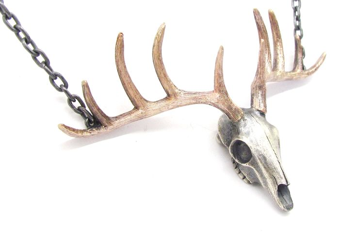 New 'STAG' skull pendant in rose gold and sterling silver.