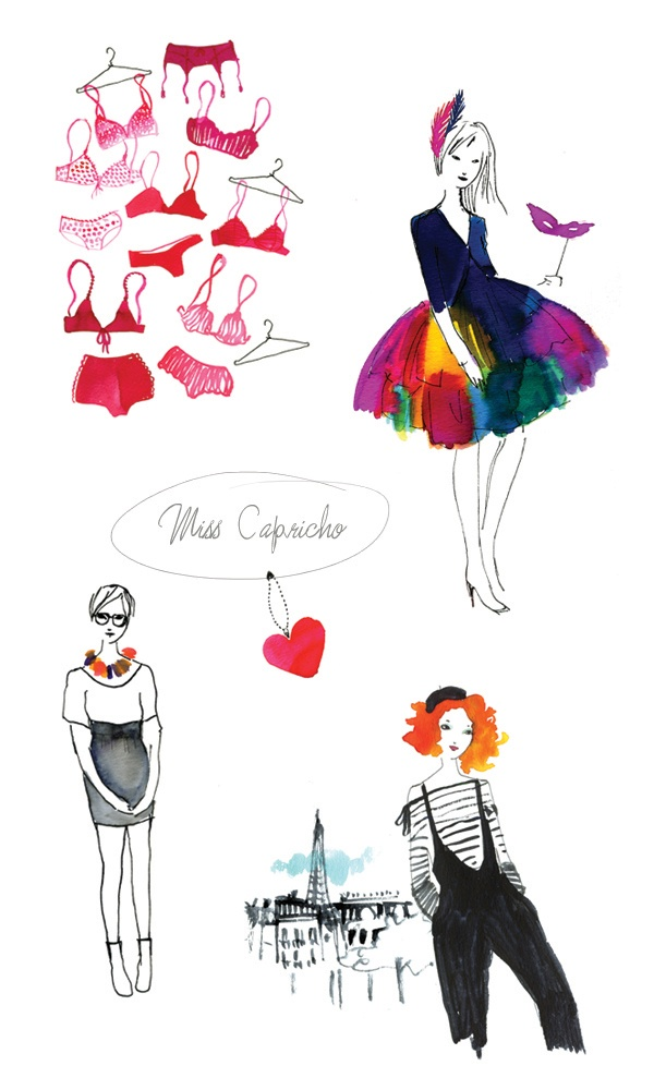 Super cute Illustration watercolor by miss capricho