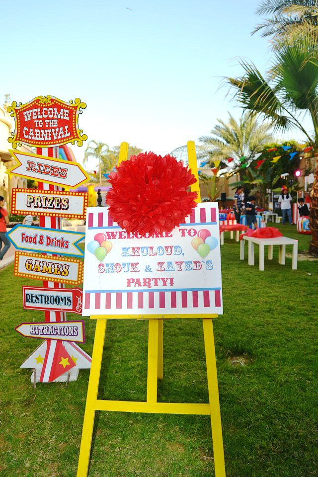 Carnival party by Sweet Life Parties.