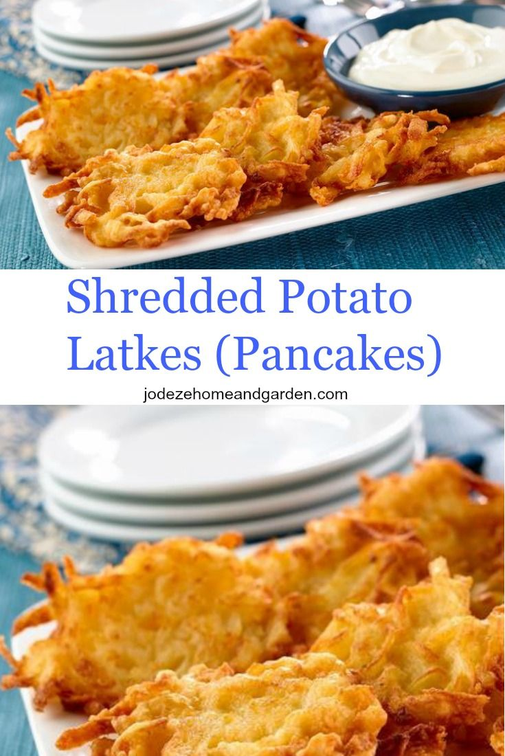 Shredded Potato Latkes ( Pancakes )
