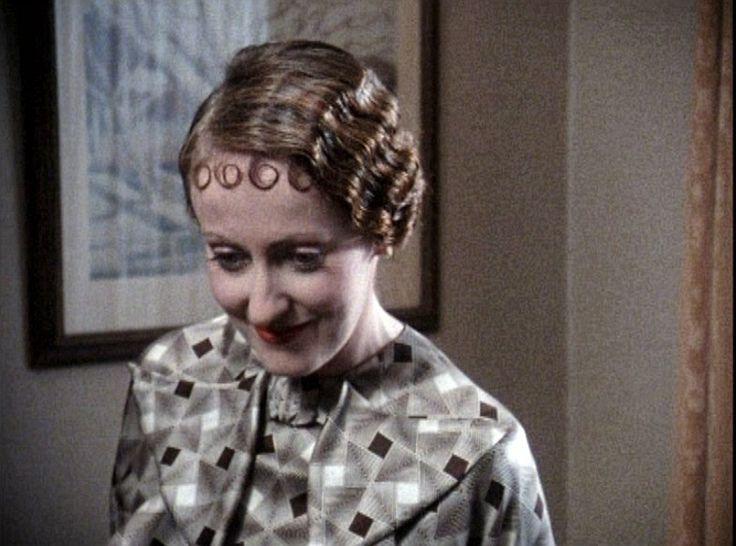 Stylish grey dress by miss Felicity Lemon (Hercule Poirot)