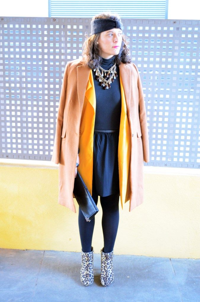 Mustard & Animal print - Mi Vestido Azul  Fashion and Lifestyle Blog   By Lourdes BuesoMi Vestido Azul  Fashion and Lifestyle Blog   By Lourdes Bueso