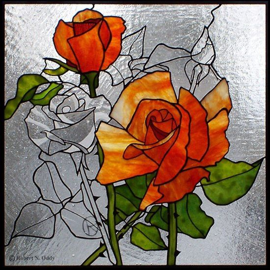 10 images about stained glass flowers on pinterest rose for Best glass painting designs