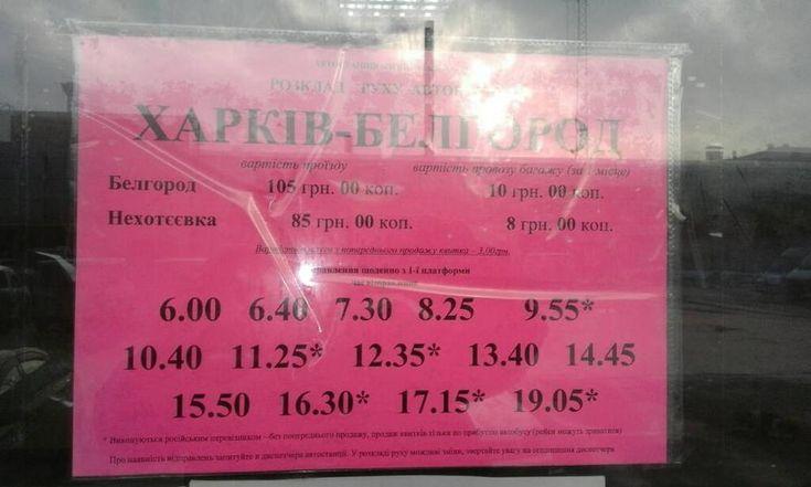 Харьков-Белгород (Гоптовка-Нехотеевка) на автобусе для тех, кто едет первый раз - Туризм