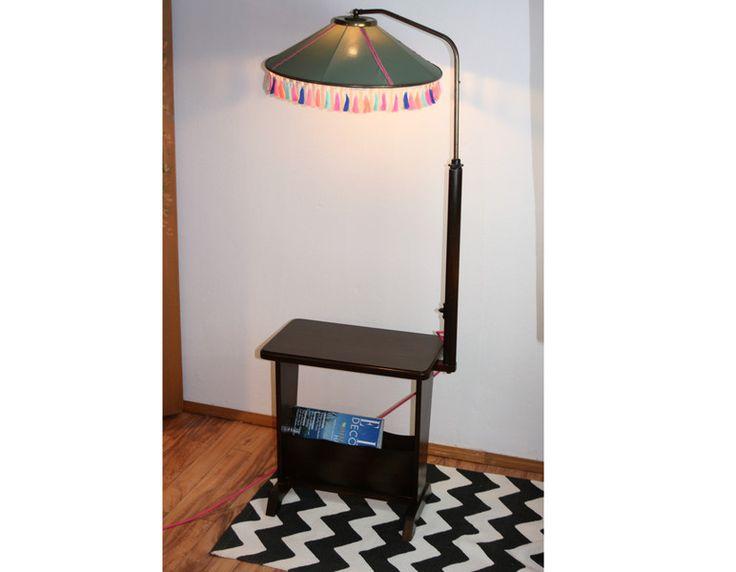 Stehlampen - 50er Lampentisch Stehlampe im Boho-Style