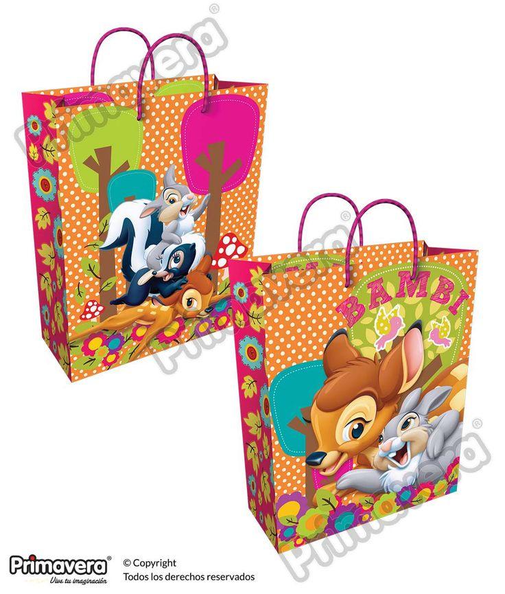Bolsa Regalo Premium Bambi http://envoltura.papelesprimavera.com/product/bolsa-regalo-personajes-nina-premium-bambi/