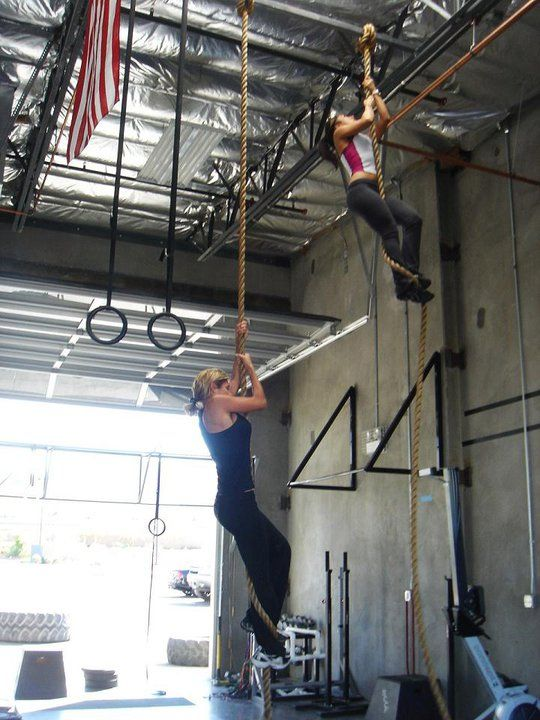 Rope climbing fitness pinterest gym crossfit and