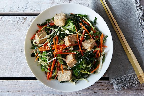 Citrus Ginger Tofu Salad with Buckwheat Soba Noodles, a recipe on Food52