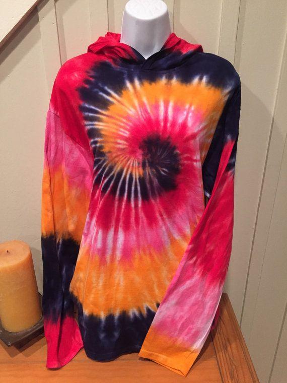 Tye dye hoodie tie dye cotton tshirt unisex by GroovyElegance8
