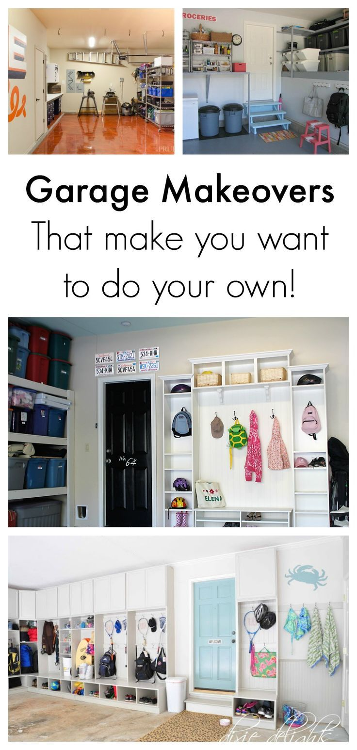 Here are some garage makeovers that will motivate you to want to makeover your own garage! Great ideas on organization...  Read more »