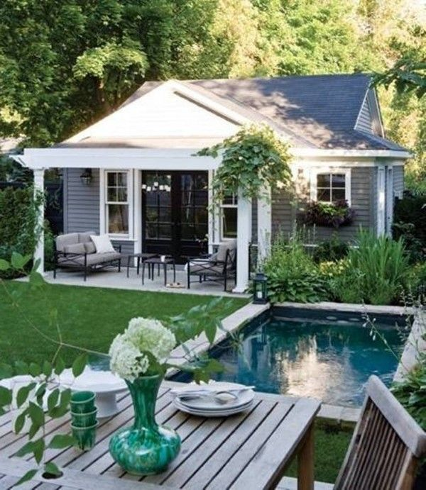 25 best ideas about small pool houses on pinterest Tiny house in backyard
