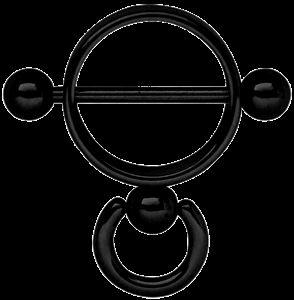 Piercing Schmuck Shop - . Brust Piercing Schmuck Stahl Ring der O in schwarz