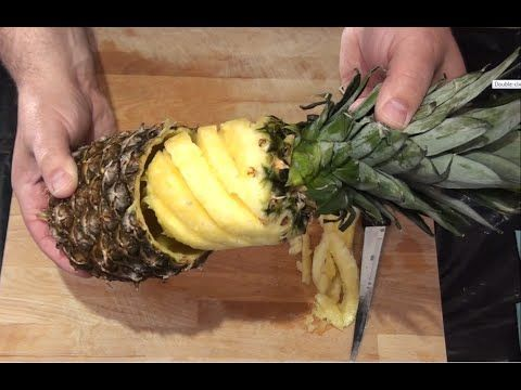 4 Ways How To Cut And Serve Pineapple - YouTube