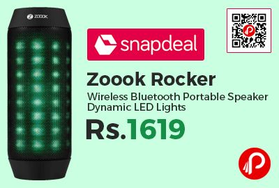 Snapdeal #Wireless Monday is offering 35% off on Zoook Rocker Wireless #Bluetooth #Portable #Speaker Dynamic LED Lights at Rs.1619. 10% instant discount using Axis Bank Credit & Debit Cards. Bluetooth V3 Speaker, Smart Voice Navigation,  http://www.paisebachaoindia.com/zoook-rocker-wireless-bluetooth-portable-speaker-dynamic-led-lights-at-rs-1619-snapdeal/