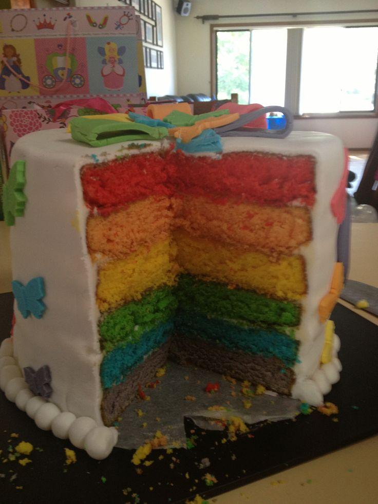 Inside of rainbow cake !