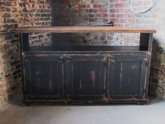 TV Stand / Media Console / Media Cabinet / Rustic By FurnitureFarm