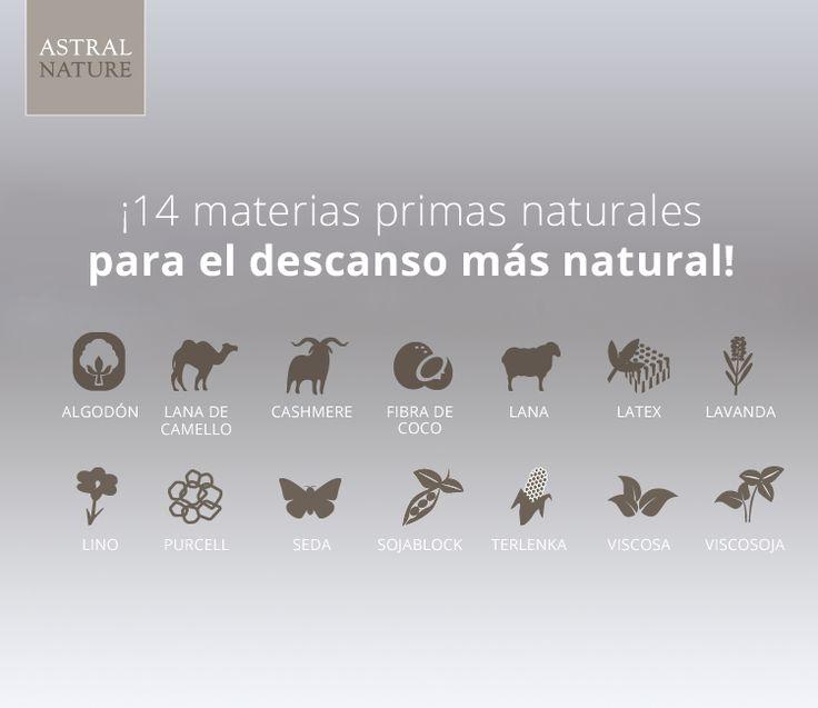 Materiales Naturales con los que elaboramos nuestros #colchones.