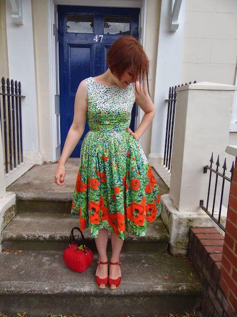Poppy Heather dress - Christine Haynes Emery dress in Milly poppy print cotton