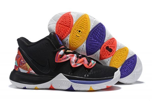 f0895621f4c0 Kyrie Irving Nike Kyrie 5 Black Multi-Color Shoes in 2019