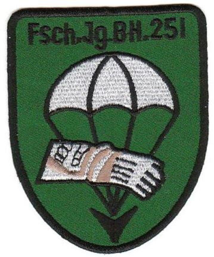 Bundeswehr Aufnäher Patch Fallschirmjäger Btl 251