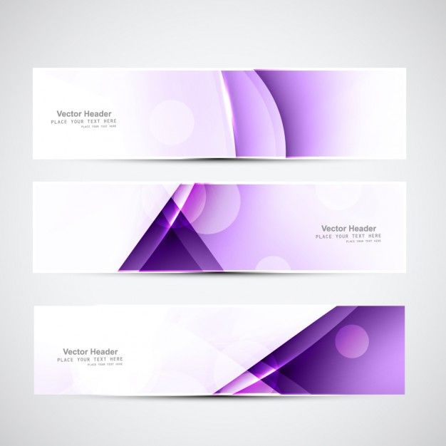 Free vector purple geometrical banners #32824