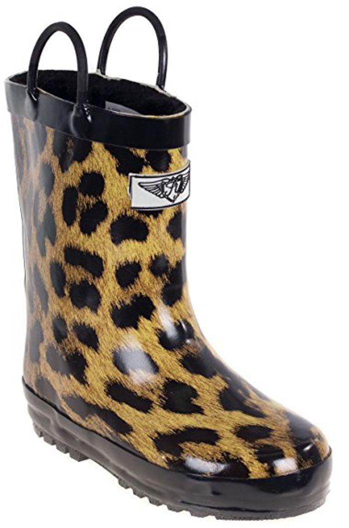 Cheetah Print Rain Boots For Kids. 15+ Rain Boots for Kids. Spring rain boots for kids. Bright colored rain boots for kids. www.madewithhappy.com