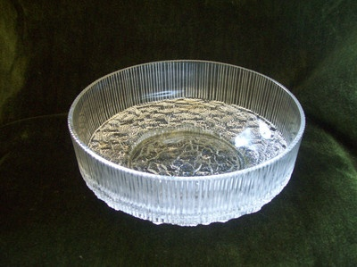 RAVENHEAD glass table, fruit, bowl, TOPAZ range 70s, John Clappison