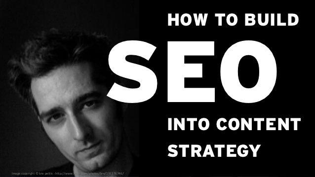 How to Build SEO into Content Strategy by Jonathon Colman via slideshare