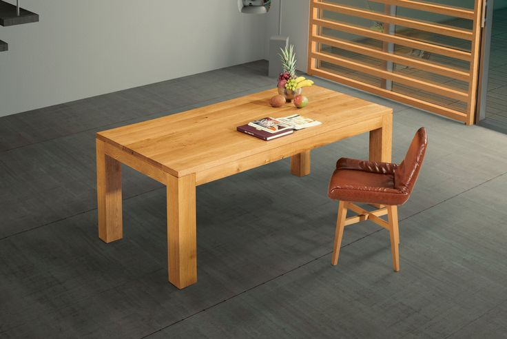 NEW YORK contemporary dining table in solid oak wood