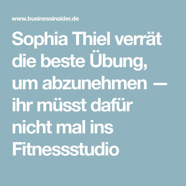 Sophia Thiel verrät die beste Übung, um abzunehmen — ihr müsst dafür nicht mal ins Fitnessstudio